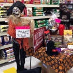 Vendor Halloween display