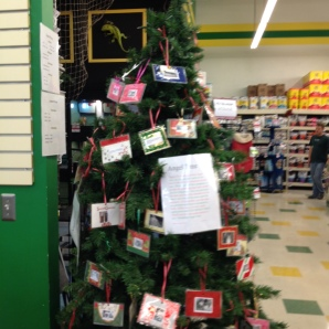 Pets in need Giving Tree set up by a local rescue group.